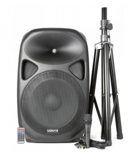 KIT SPS152 COMPLETO (600W / 250W RMS) (ALTAVOZ + TRÍPODE + MICRO + CABLE MICRO) (USB/SD)