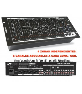 4 ZONAS / 6 CANALES / USB