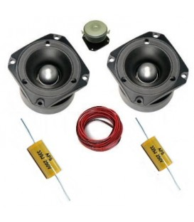 KIT TPX-2 (2 TWEETERS TITANIO + 2 CONDENSADORES + CABLE) (PSK: TPX-2 / 3,3 AUDICAN) (100W / 50 WRMS)